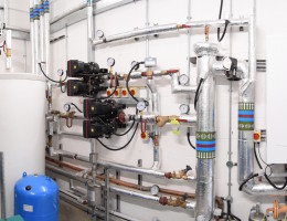 Plant Room and Hot Water pipework