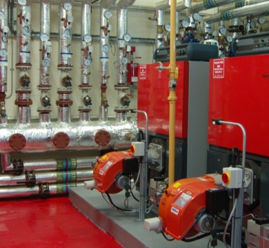 Industrial Boiler Room